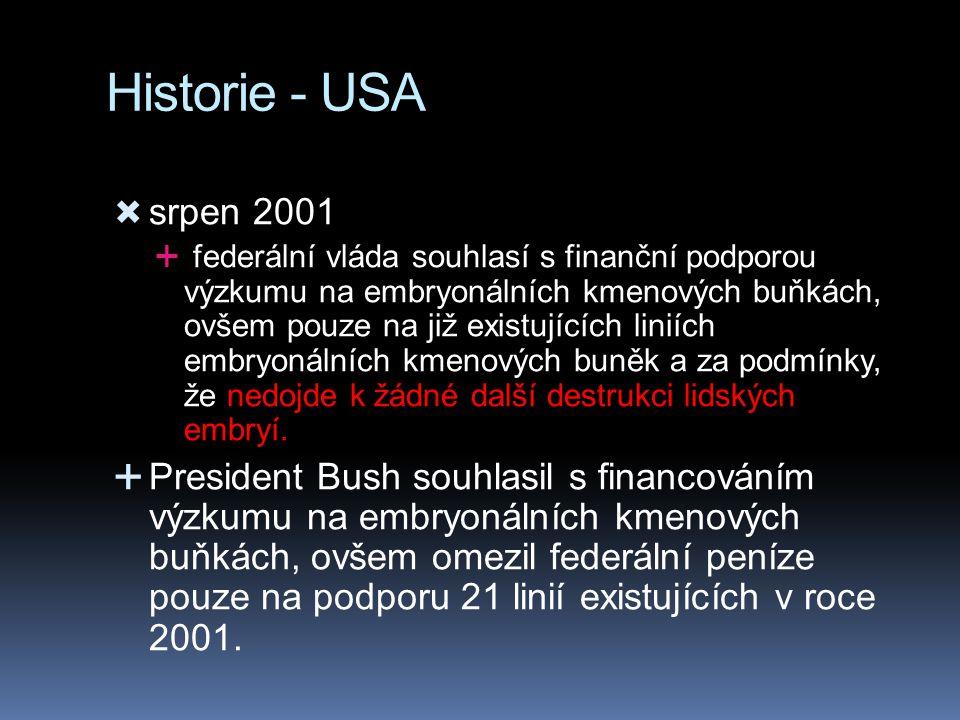 Historie - USA srpen 2001.