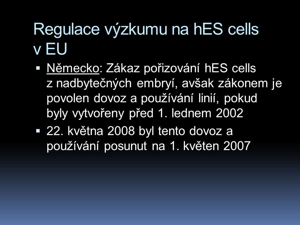 Regulace výzkumu na hES cells v EU