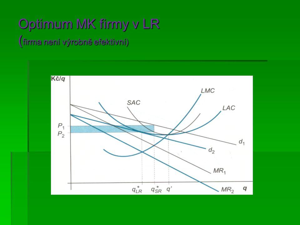 Optimum MK firmy v LR (firma není výrobně efektivní)