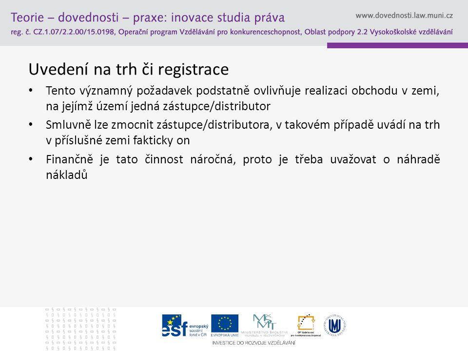 Uvedení na trh či registrace