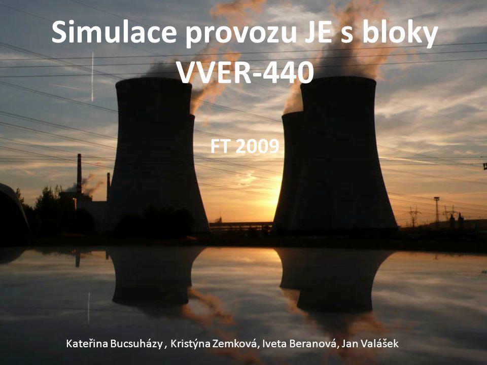 Simulace provozu JE s bloky VVER-440 FT 2009