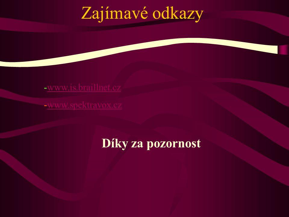 Zajímavé odkazy www.is.braillnet.cz www.spektravox.cz
