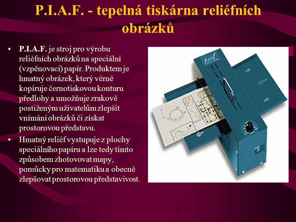 P.I.A.F. - tepelná tiskárna reliéfních obrázků