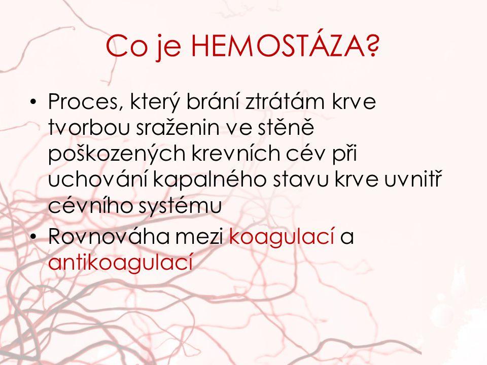 Co je HEMOSTÁZA