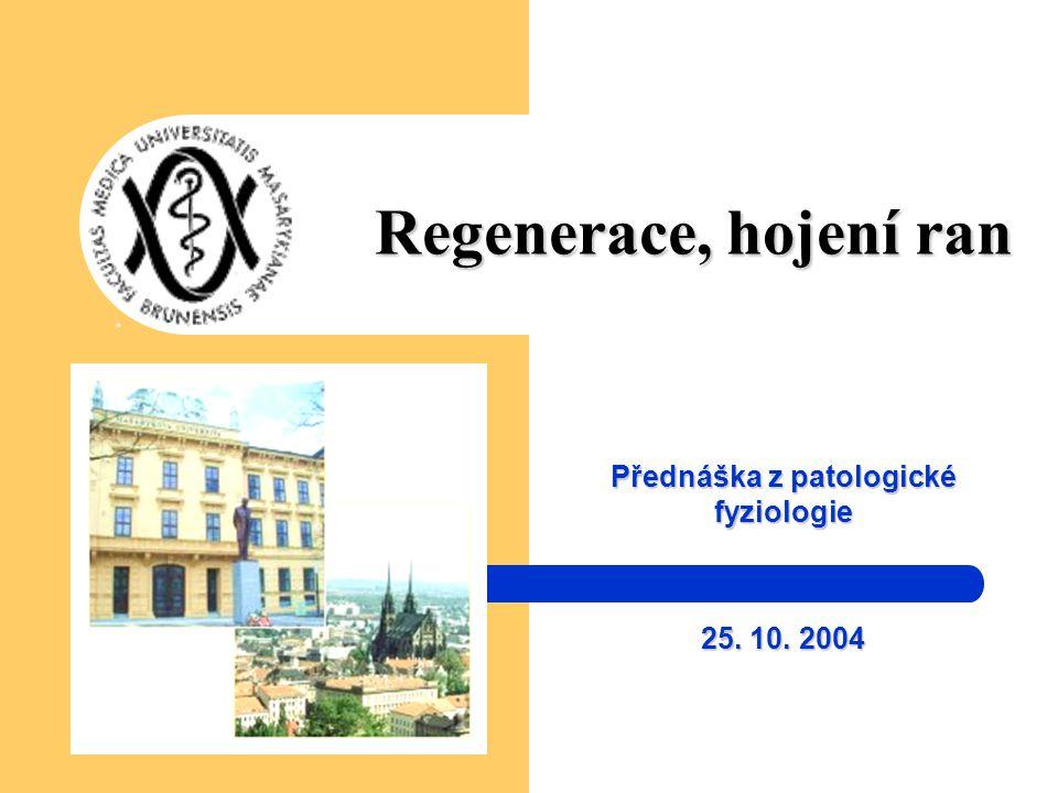 Přednáška z patologické fyziologie 25. 10. 2004