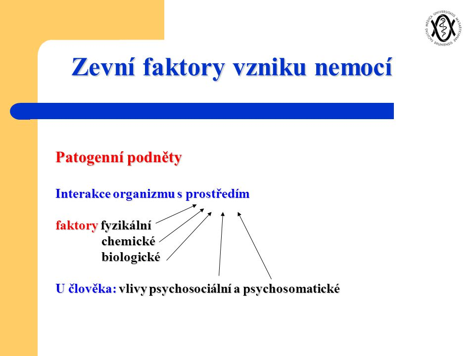 Zevní faktory vzniku nemocí
