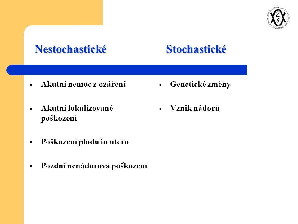 Nestochastické Stochastické