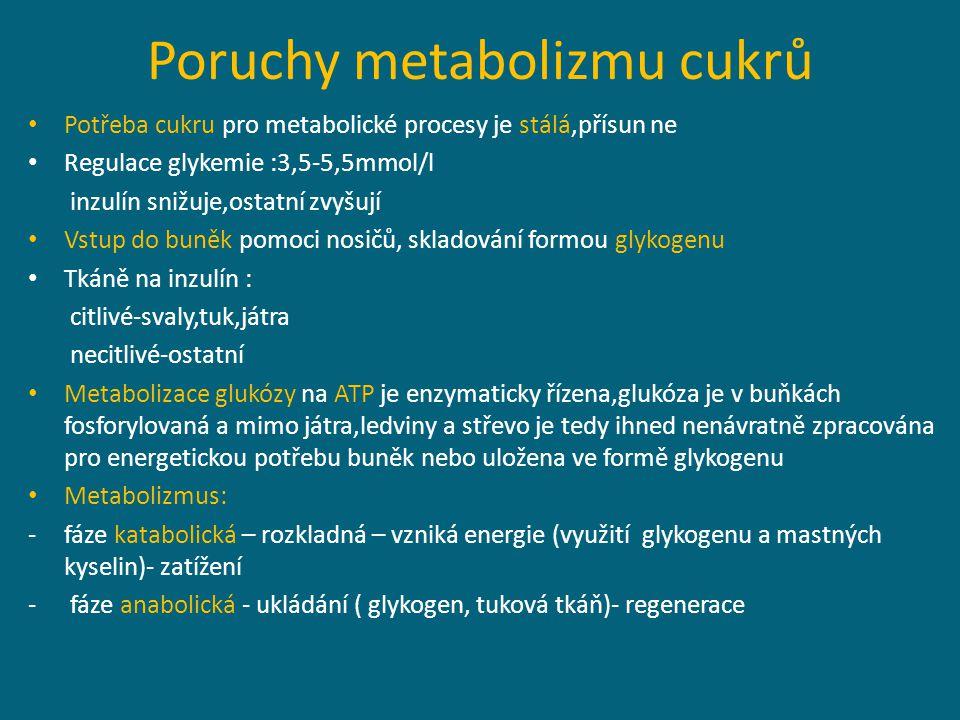Poruchy metabolizmu cukrů