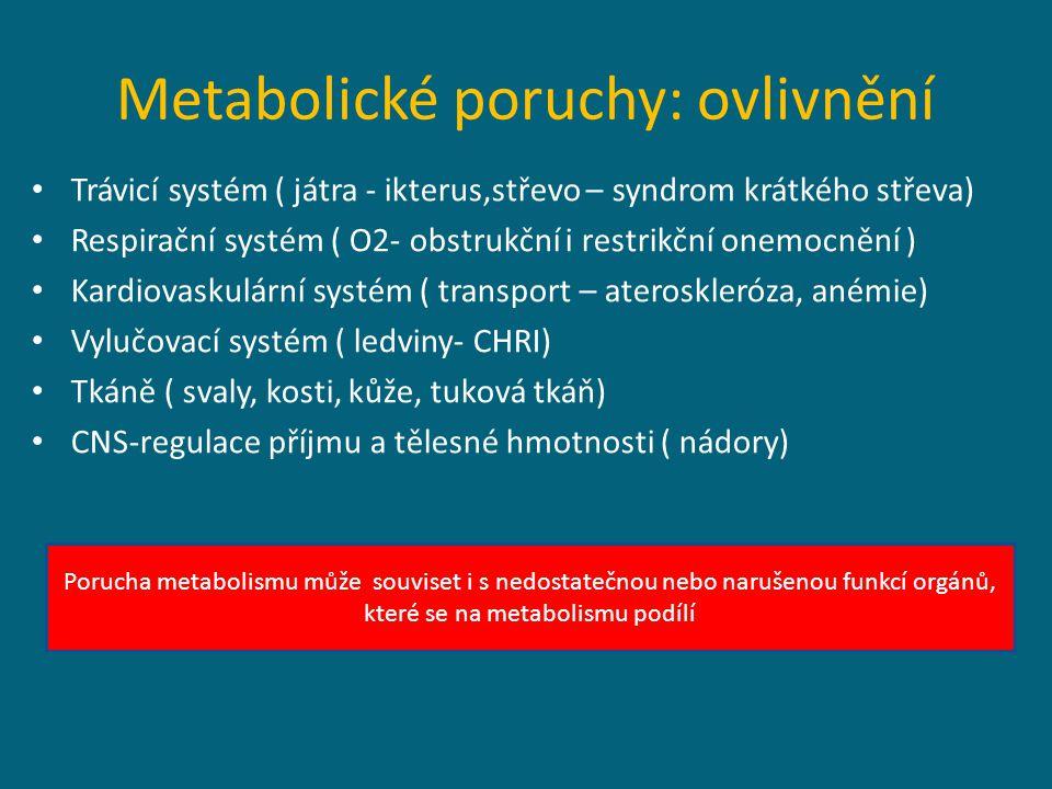 Metabolické poruchy: ovlivnění