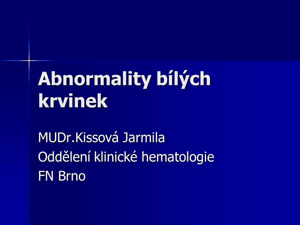Abnormality bílých krvinek