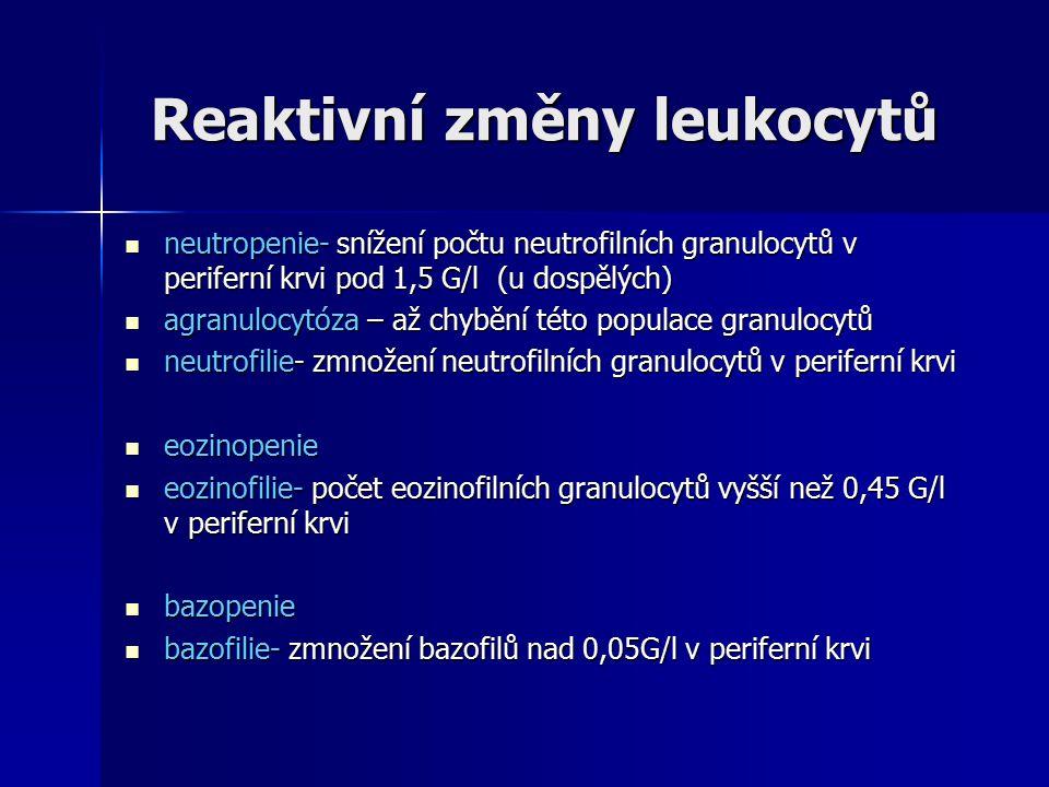 Reaktivní změny leukocytů