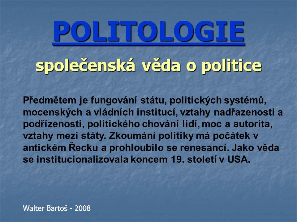 společenská věda o politice
