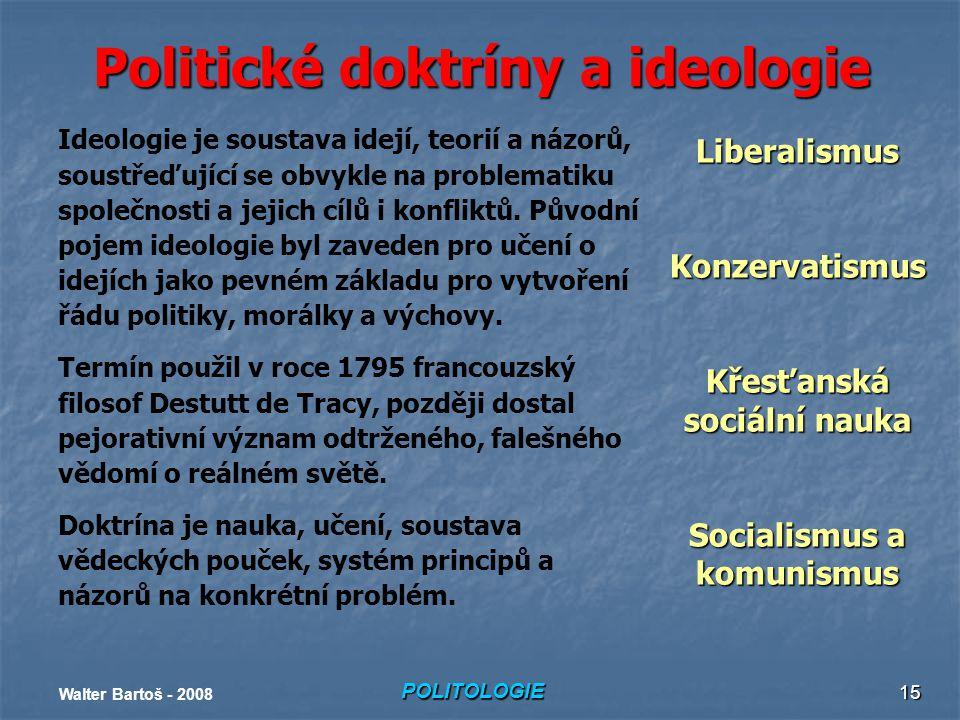 Politické doktríny a ideologie