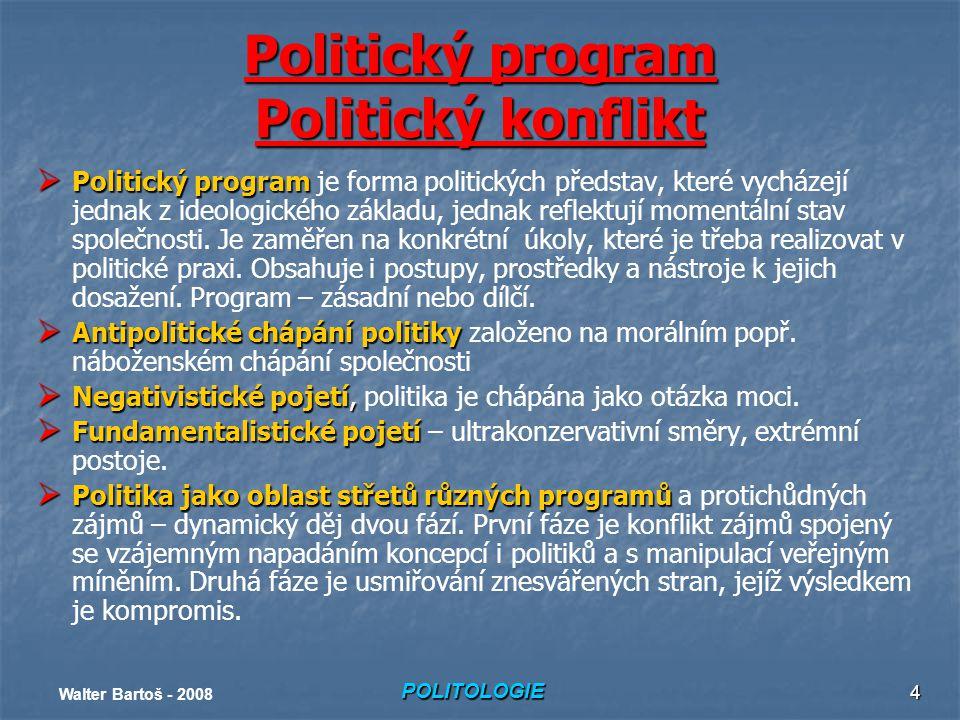 Politický program Politický konflikt