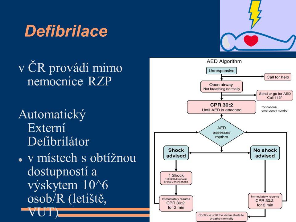 Defibrilace v ČR provádí mimo nemocnice RZP