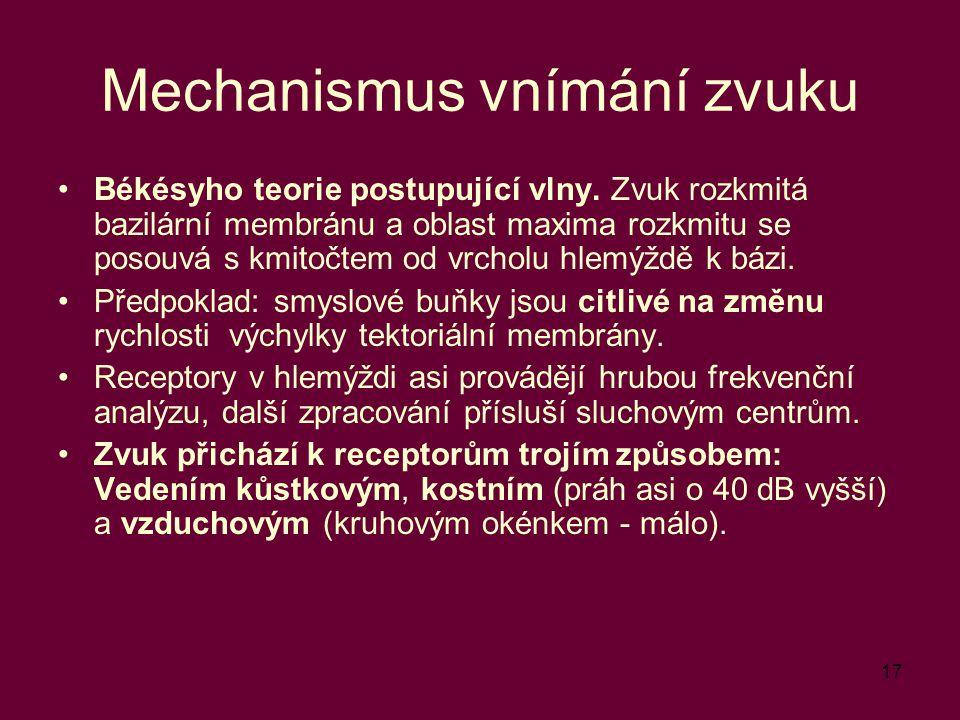 Mechanismus vnímání zvuku