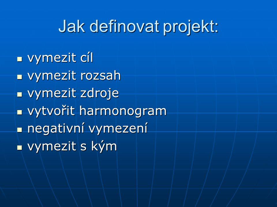 Jak definovat projekt: