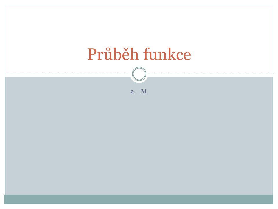 Průběh funkce 2. M