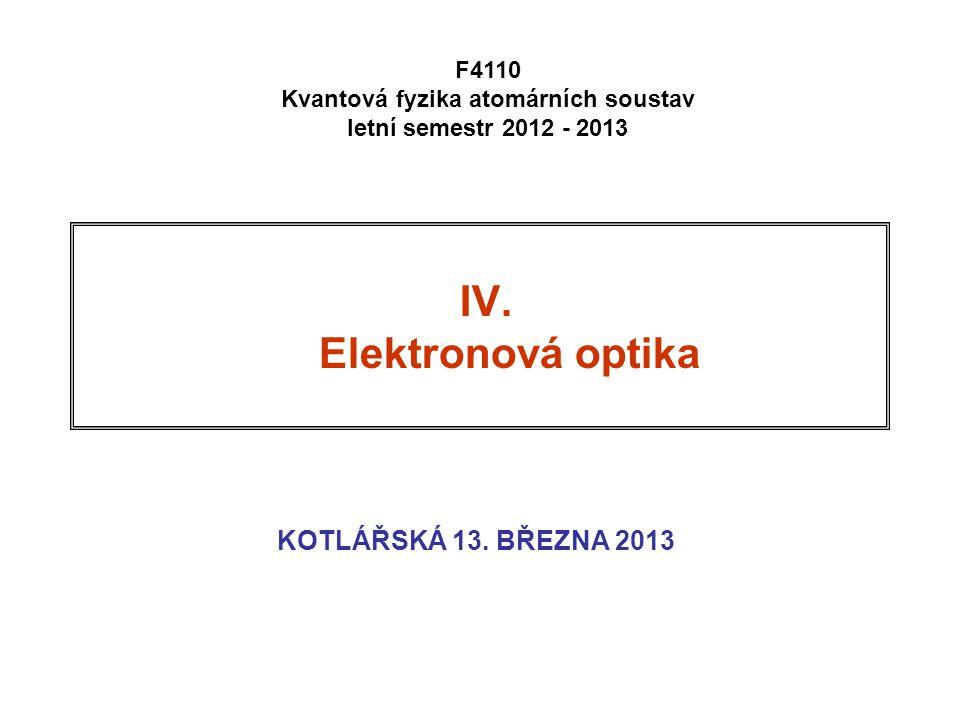 Kvantová fyzika atomárních soustav letní semestr 2012 - 2013