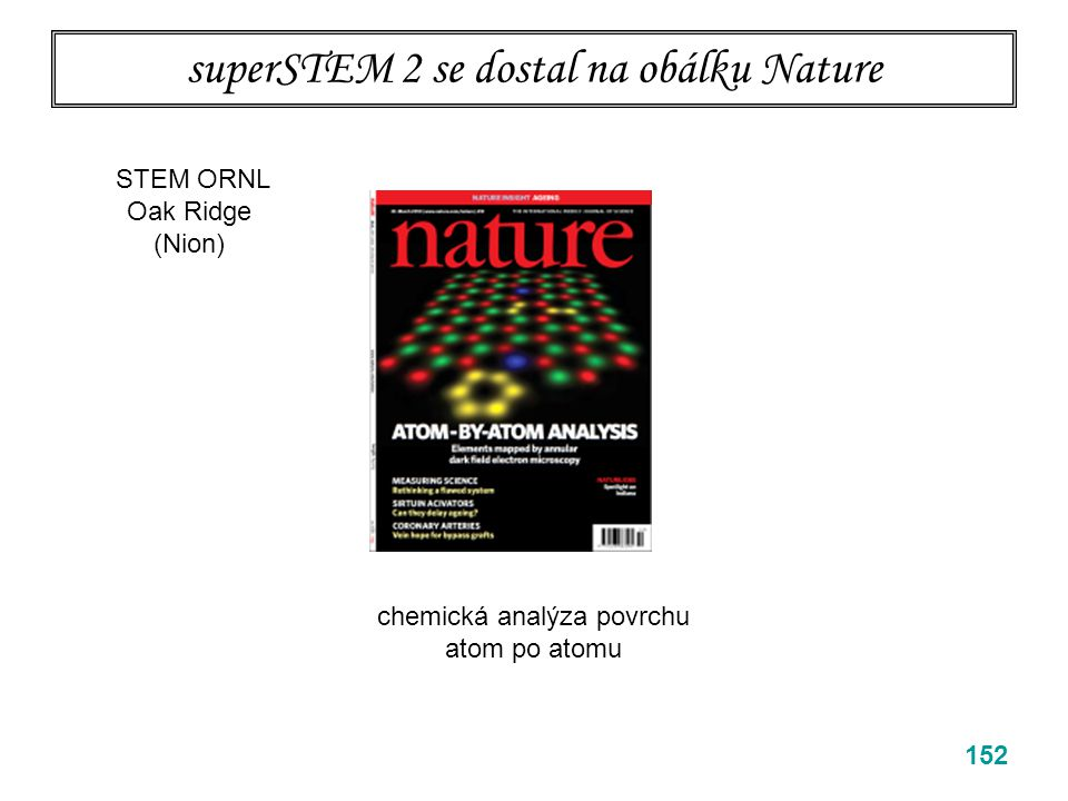 superSTEM 2 se dostal na obálku Nature