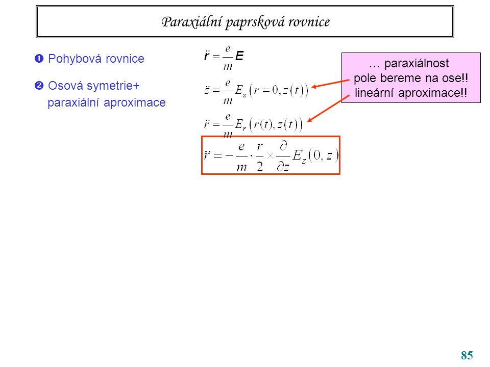 Paraxiální paprsková rovnice