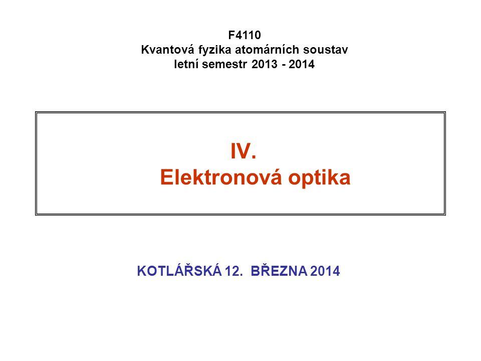 Kvantová fyzika atomárních soustav letní semestr 2013 - 2014