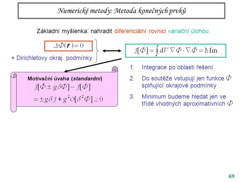 Numerické metody: Metoda konečných prvků
