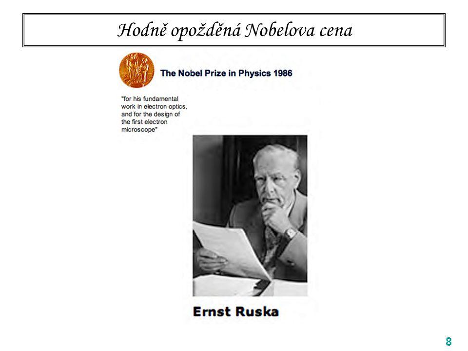 Hodně opožděná Nobelova cena