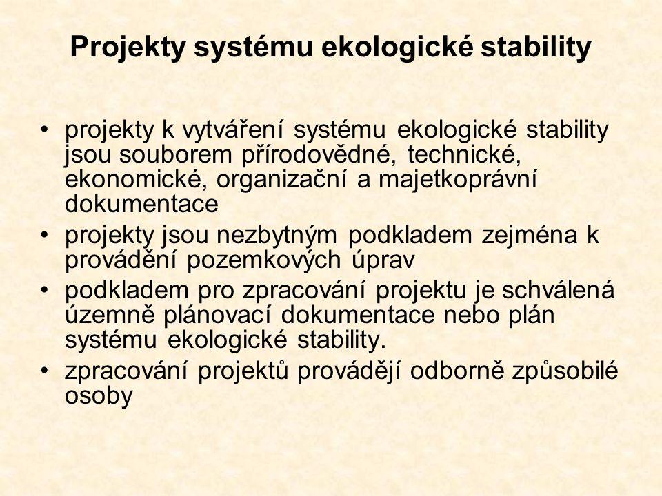 Projekty systému ekologické stability