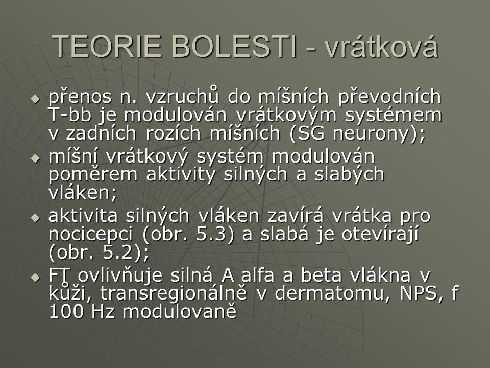 TEORIE BOLESTI - vrátková