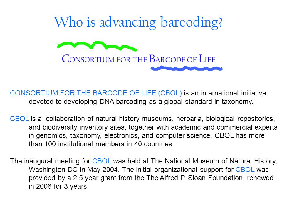 Who is advancing barcoding