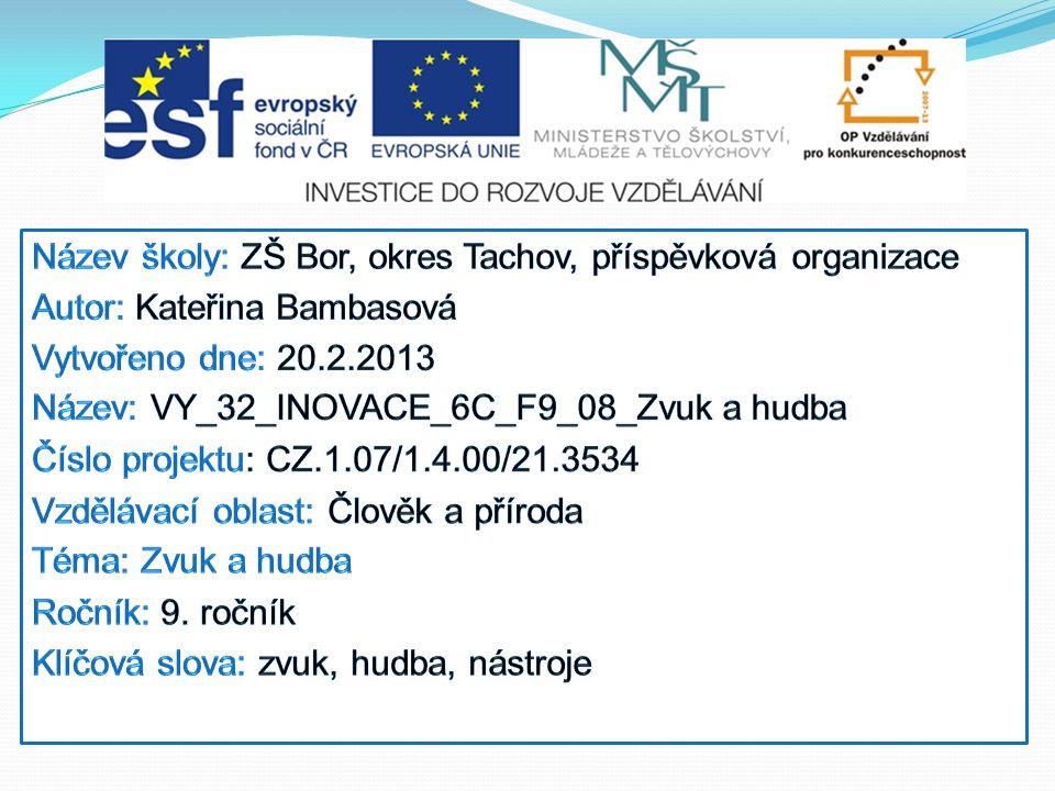 Název školy: ZŠ Bor, okres Tachov, příspěvková organizace