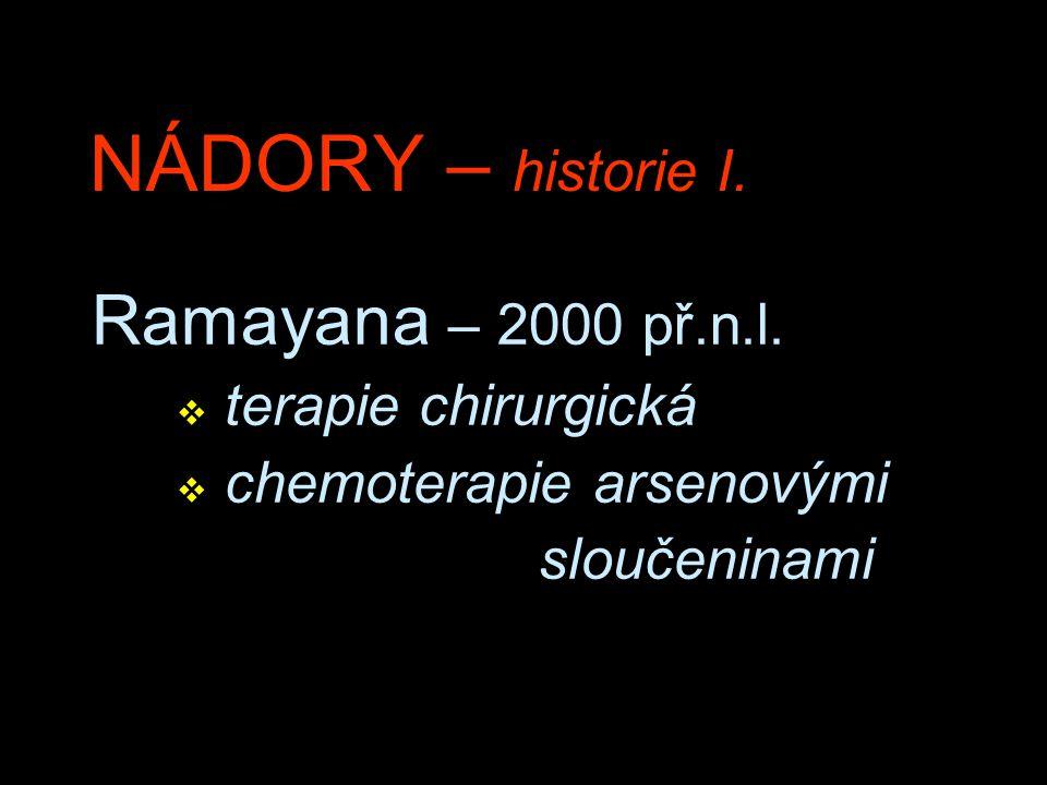 NÁDORY – historie I. Ramayana – 2000 př.n.l. terapie chirurgická