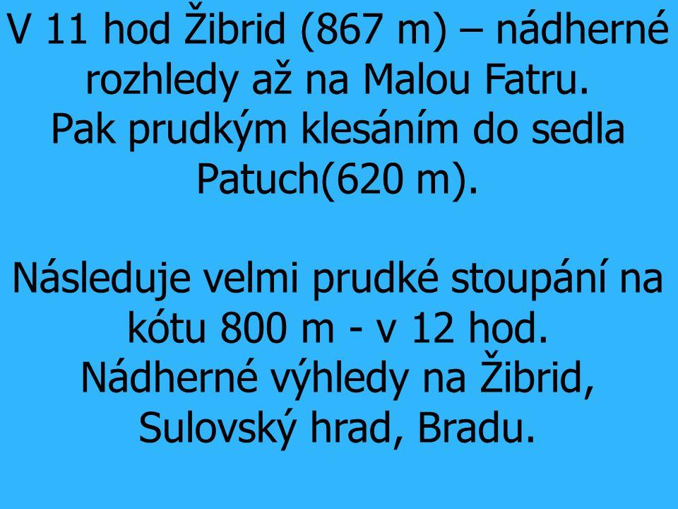 V 11 hod Žibrid (867 m) – nádherné rozhledy až na Malou Fatru.