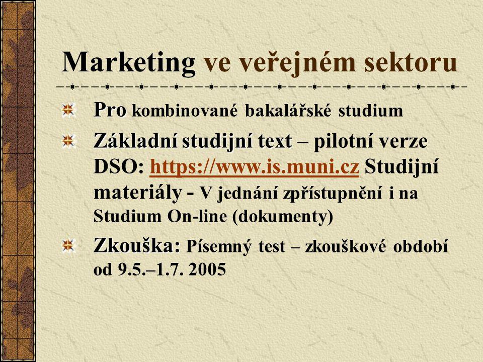 Marketing ve veřejném sektoru