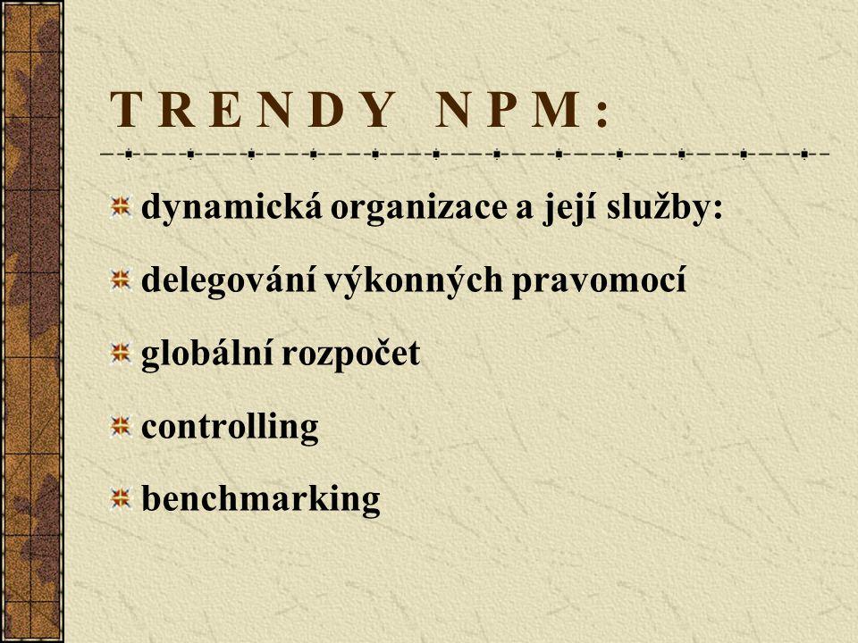 T R E N D Y N P M : dynamická organizace a její služby: