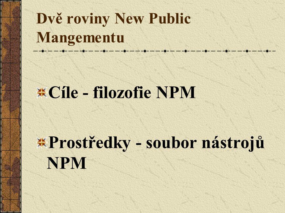 Dvě roviny New Public Mangementu