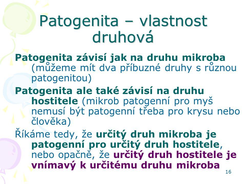 Patogenita – vlastnost druhová