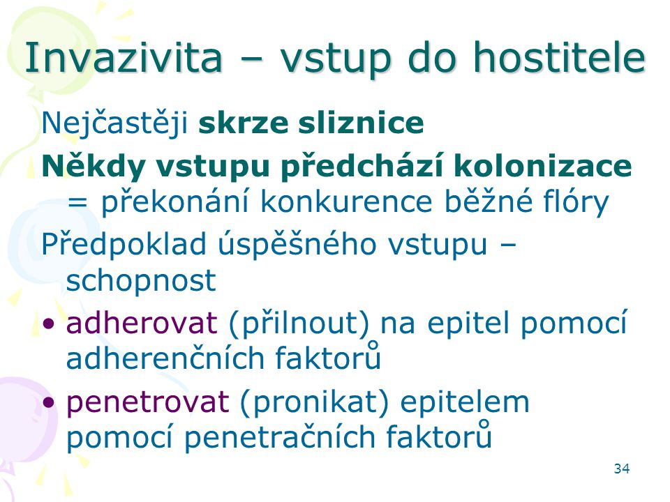 Invazivita – vstup do hostitele