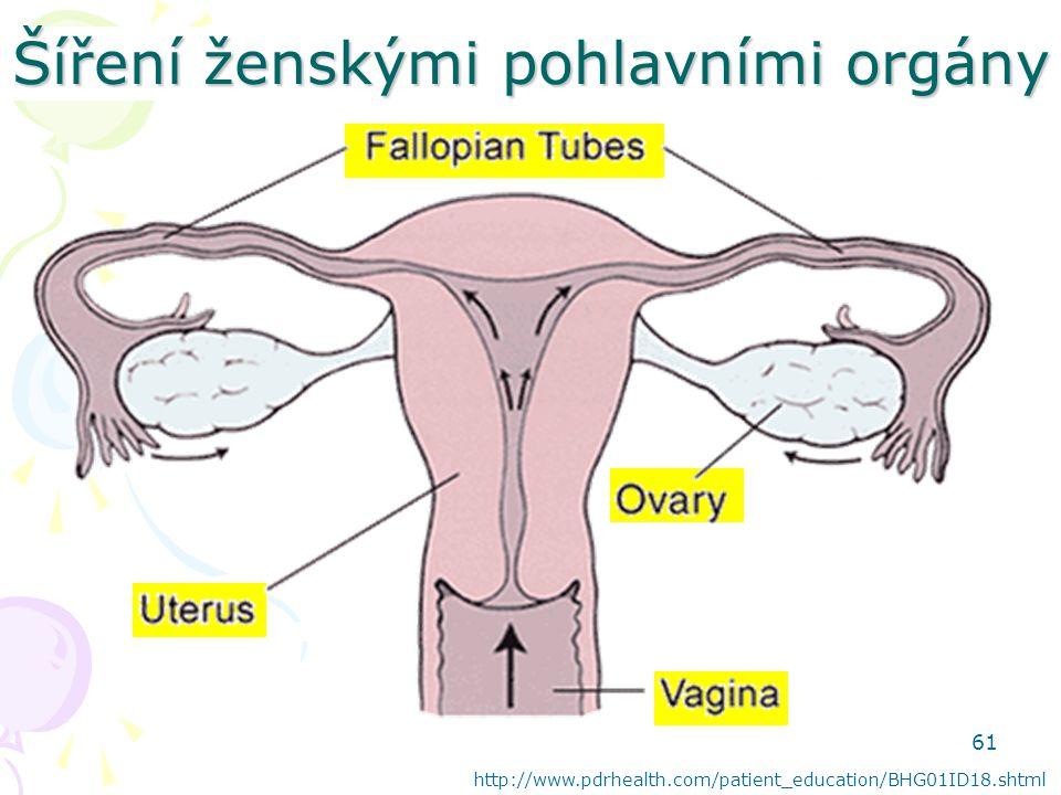 Šíření ženskými pohlavními orgány