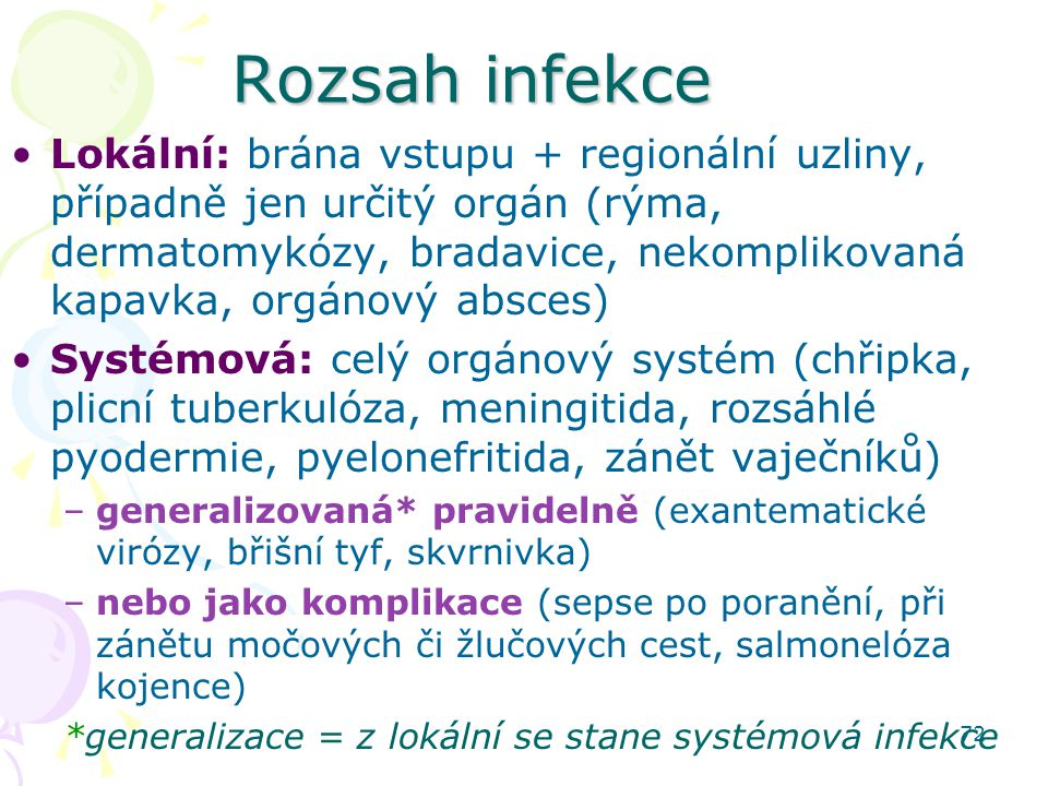 Rozsah infekce