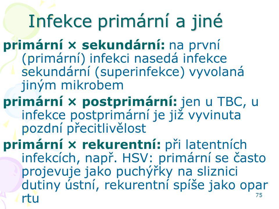 Infekce primární a jiné