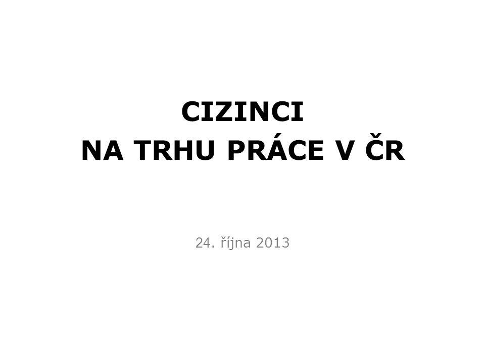 CIZINCI NA TRHU PRÁCE V ČR