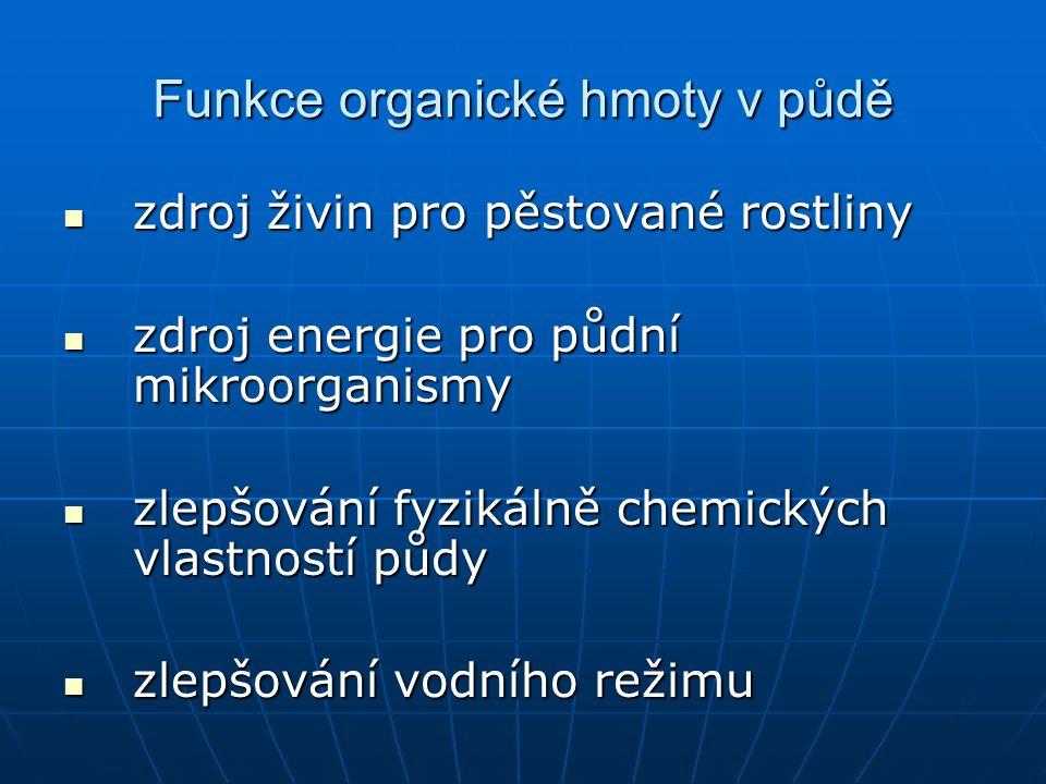 Funkce organické hmoty v půdě