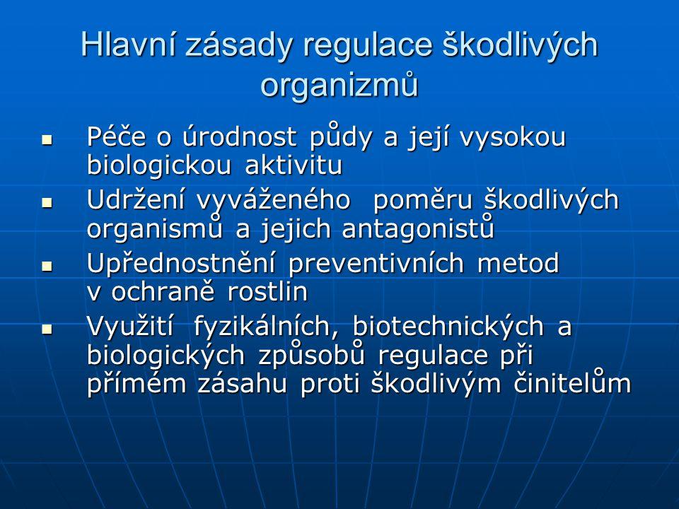 Hlavní zásady regulace škodlivých organizmů