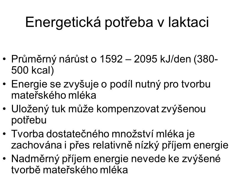 Energetická potřeba v laktaci