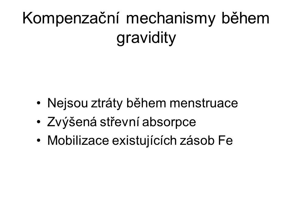 Kompenzační mechanismy během gravidity