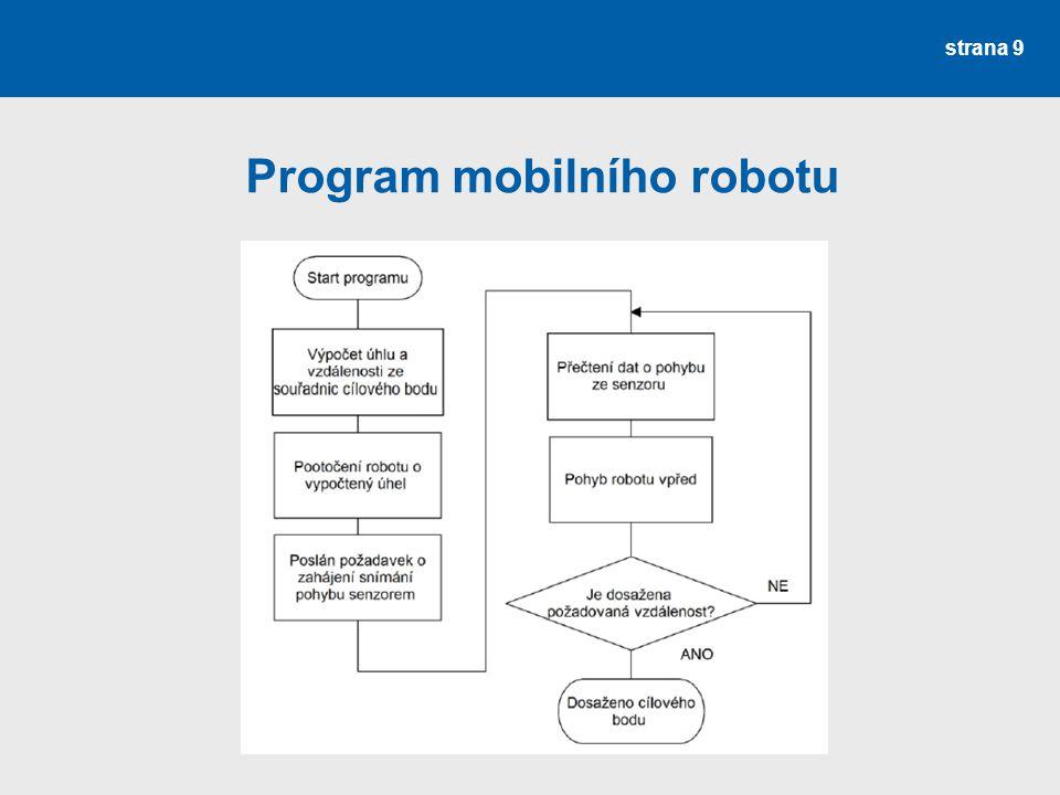 Program mobilního robotu