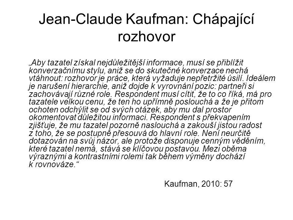 Jean-Claude Kaufman: Chápající rozhovor