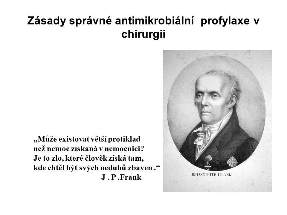 Zásady správné antimikrobiální profylaxe v chirurgii